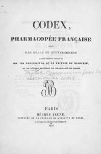 Còdex farmacèutic francès 1837