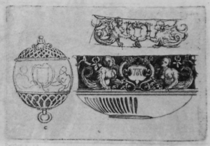 Poma d'ambre disenyada per Albrecht Dürer