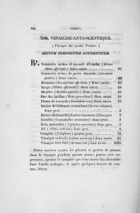 The recipt of 4 thieves - French Pharmaceutical Codex