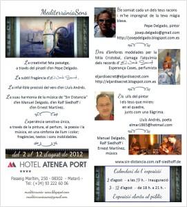 Exposició MediterràniaSens Hotel Atenea Mataró