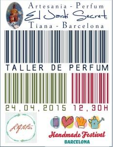 Taller de perfum 24/04/2015 12,30 h Atelier Handmade Festival Barcelona