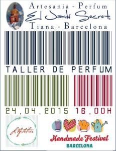 Taller de perfum 24/04/2015 - 16,00h Atelier Handmade Festival Barcelona