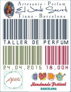 Taller de perfum 24/04/2015 - 18,00h Atelier Handmade Festival Barcelona