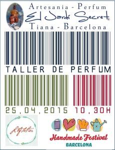 Taller de perfum 25/04/2015 - 10,30h Atelier Handmade Festival Barcelona