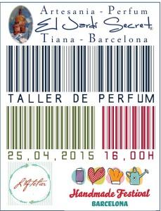 Taller de perfum 25/04/2015 - 16,00h Atelier Handmade Festival Barcelona