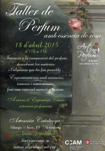 Taller de Perfum amb essència de rosa- 18 d'abril 2015